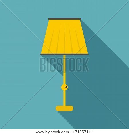 Floor lamp icon. Flat illustration of floor lamp vector icon for web