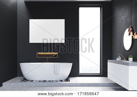Bathroom With Windows And Poster