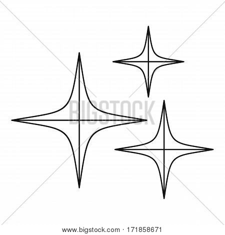 Stars icon. Outline illustration of stars vector icon for web