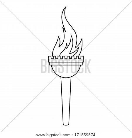 Torch icon. Outline illustration of torch vector icon for web