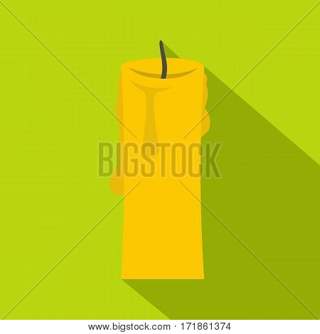 One candle icon. Flat illustration of one candle vector icon for web