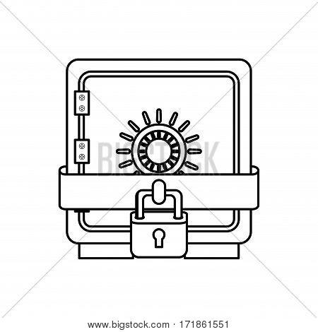 Strongbox safety symbol icon vector illustration graphic design