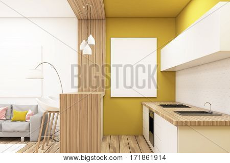 Kitchen In A Studio Apartment, Poster