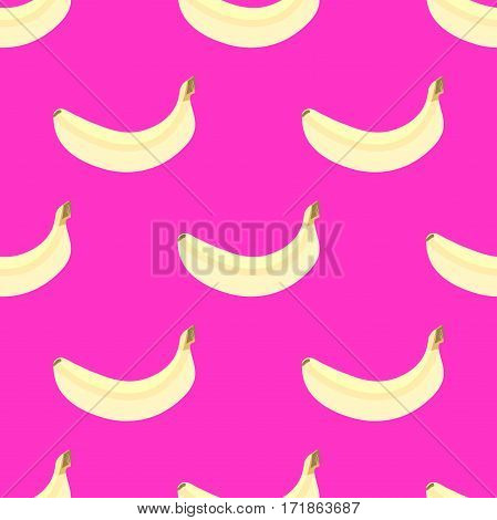 Fresh banana fruits, collection of vector illustrations. Organic yellow tropic fruit.