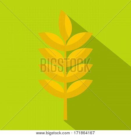 Rye spica icon. Flat illustration of rye spica vector icon for web