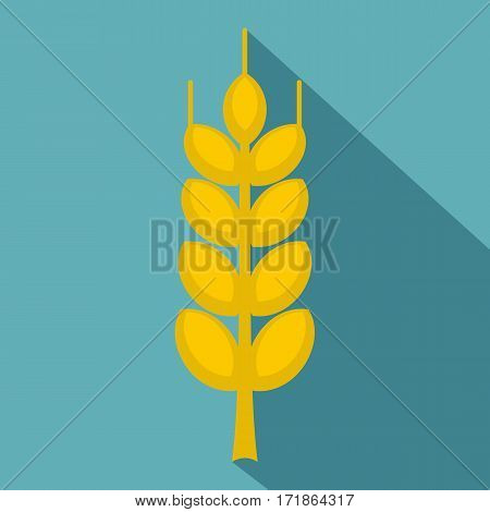 Ripe spike icon. Flat illustration of ripe spike vector icon for web