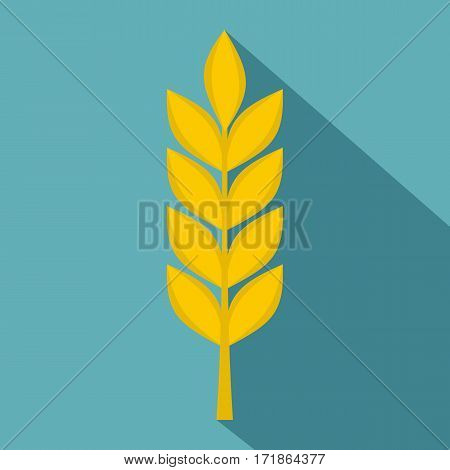 Wheat spike icon. Flat illustration of wheat spike vector icon for web