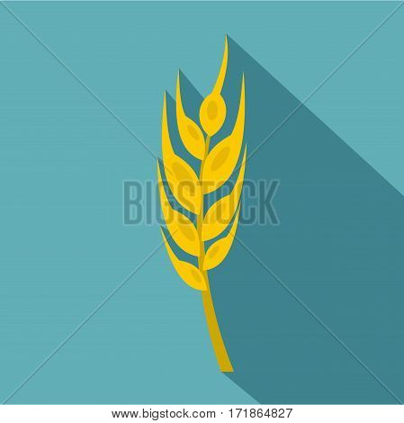 Barley spike icon. Flat illustration of barley spike vector icon for web