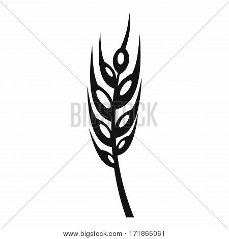 Barley spike icon. Simple illustration of barley spike vector icon for web