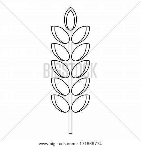 Big grain spike icon. Outline illustration of big grain spike vector icon for web