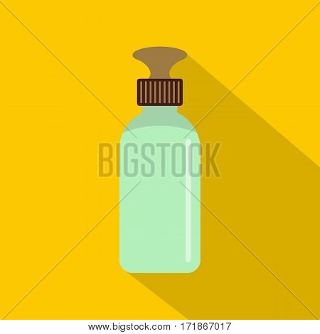 Closed vial icon. Flat illustration of closed vial vector icon for web