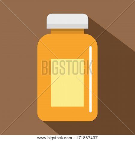 Medicine jar icon. Flat illustration of medicine jar vector icon for web