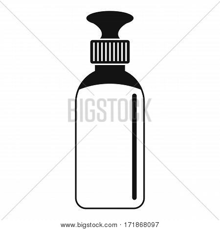 Closed vial icon. Simple illustration of closed vial vector icon for web