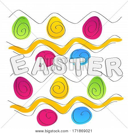 Easter background. Text and egs for your design