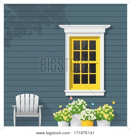 Architectural element Window background , vector ,illustration
