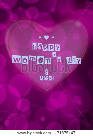 Vector greeting card . 8 march - woman's day