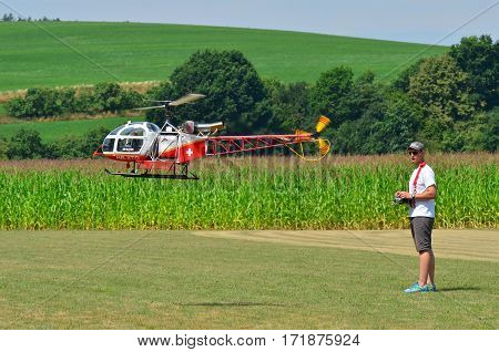 remote control scale helikopter as a hobby for a man
