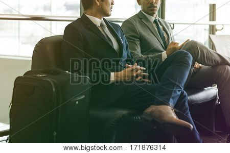 Business Men Colleague Break Talk