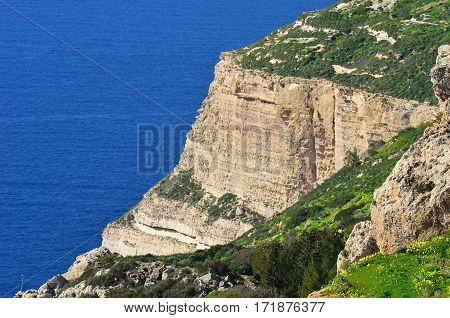 Dingli cliffs on island Malta in Europe