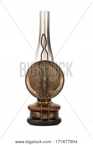 Old Kerosene Lamp Isolated On White
