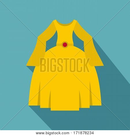 Princess dress icon. Flat illustration of princess dress vector icon for web