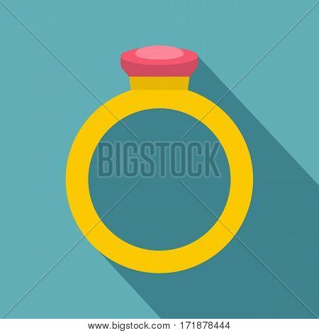 Ring icon. Flat illustration of ring vector icon for web