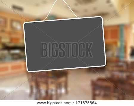 Grey Sign Hanging On Abstract Background