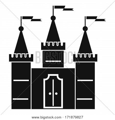 Castle icon. Simple illustration of castle vector icon for web