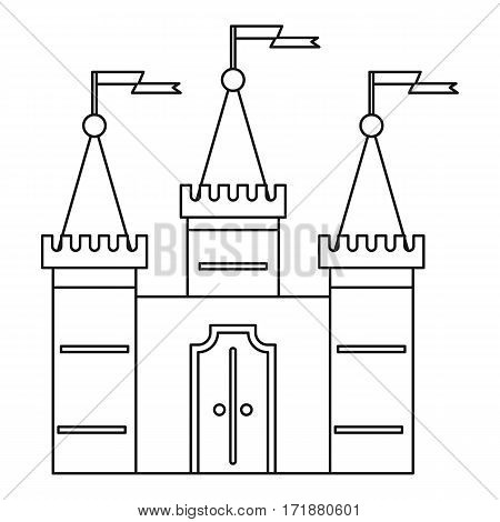 Castle Icon Outline Illustration Of Vector For Web