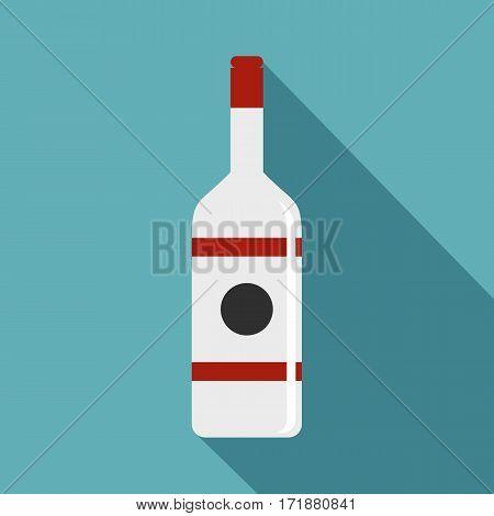 Vodka icon. Flat illustration of vodka vector icon for web