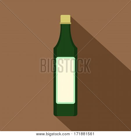 Vinegar bottle icon. Flat illustration of vinegar bottle vector icon for web