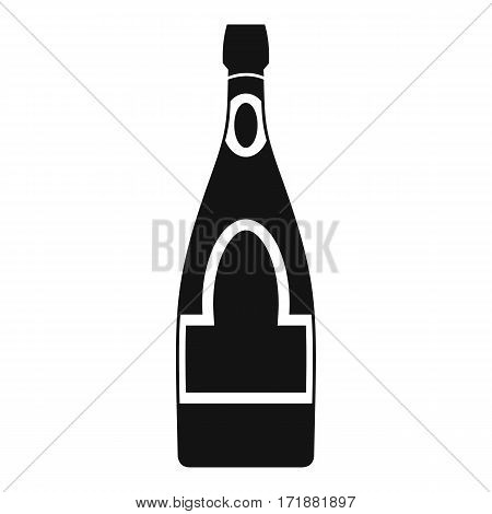 Champagne bottle icon. Simple illustration of champagne bottle vector icon for web