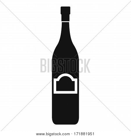 One bottle icon. Simple illustration of one bottle vector icon for web