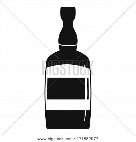 Brandy bottle icon. Simple illustration of brandy bottle vector icon for web