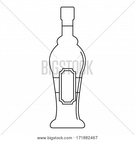 Alcohol bottle icon. Outline illustration of alcohol bottle vector icon for web
