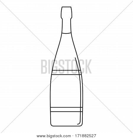 Glass bottle icon. Outline illustration of glass bottle vector icon for web