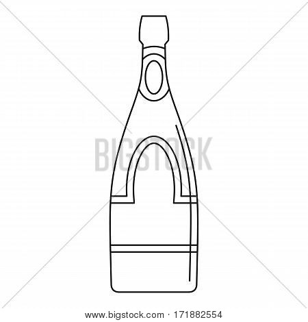 Champagne bottle icon. Outline illustration of champagne bottle vector icon for web