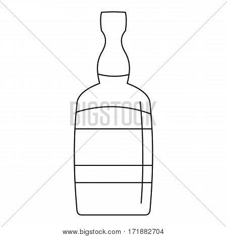 Brandy bottle icon. Outline illustration of brandy bottle vector icon for web