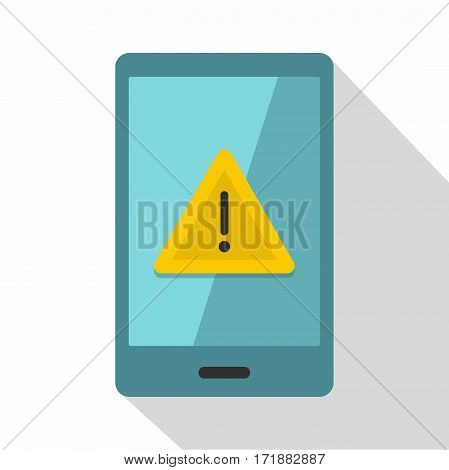 Not working phone icon. Flat illustration of not working phone vector icon for web