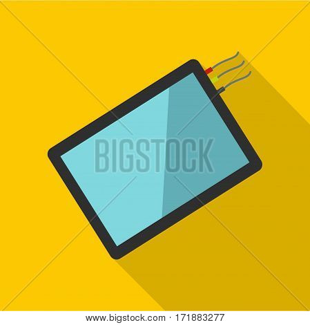 One phone icon. Flat illustration of one phone vector icon for web
