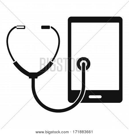Phone diagnosis icon. Simple illustration of phone diagnosis vector icon for web