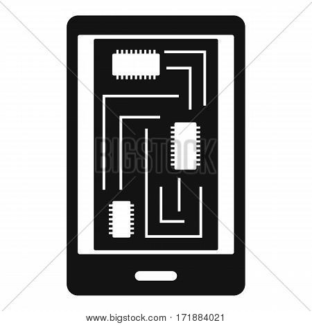 Phone innards icon. Simple illustration of phone innards vector icon for web
