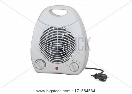 fan heater closeup 3D rendering isolated on white background