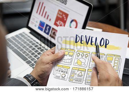 Development Develop Workflow Design Graphic Word