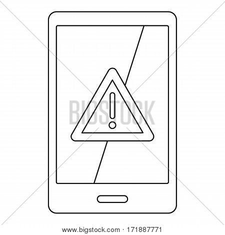 Not working phone icon. Outline illustration of not working phone vector icon for web