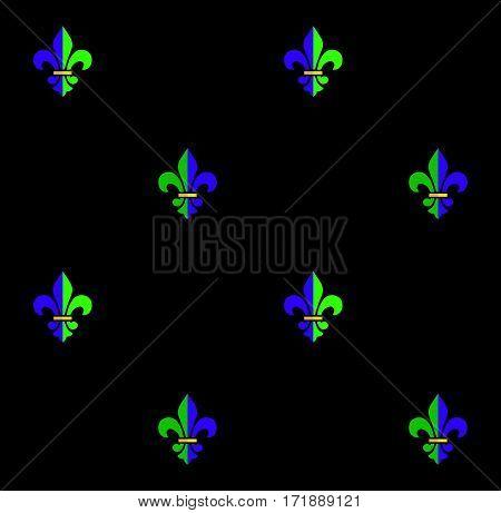 Carnival, Festival, Masquerade decorative pattern design. Mardi Gras Carnival pattern with fleur-de-lis symbol.