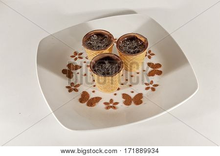 Vegetarian Food - vegetarian cupcake with chocolate