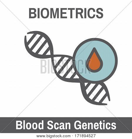 DNA and Blood Biometric Scanning Recognition with strand