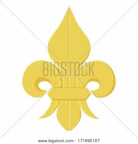Fleur de lis icon. Cartoon illustration of fleur de lis vector icon for web