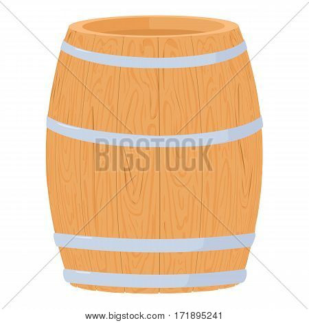 Wine barrel icon. Cartoon illustration of wine barrel vector icon for web